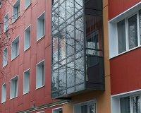 В городе продолжается установка вентилируемых фасадов