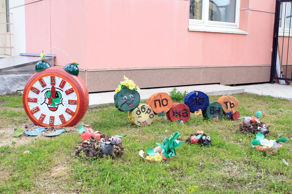 Поделки для детской площадки из полена, из пеньков и другого