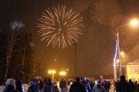 Мирный встретил Новый год!