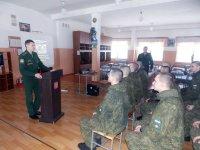 Военная прокуратура гарнизона Мирный  в феврале 2019 года приняла участие в проведении месячника, недели и единого дня правовых знаний